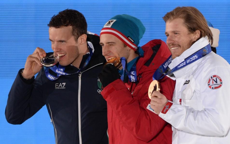 Sochi 2014: Innerhofer, la festa sul podio
