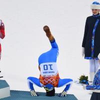 Sochi 2014: Innerhofer, capriole sul podio