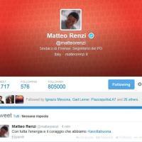 """Il tweet di Renzi: """"Con tutta l'energia e il coraggio che abbiamo''"""