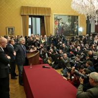 Beppe Grillo a Montecitorio, il fotoracconto