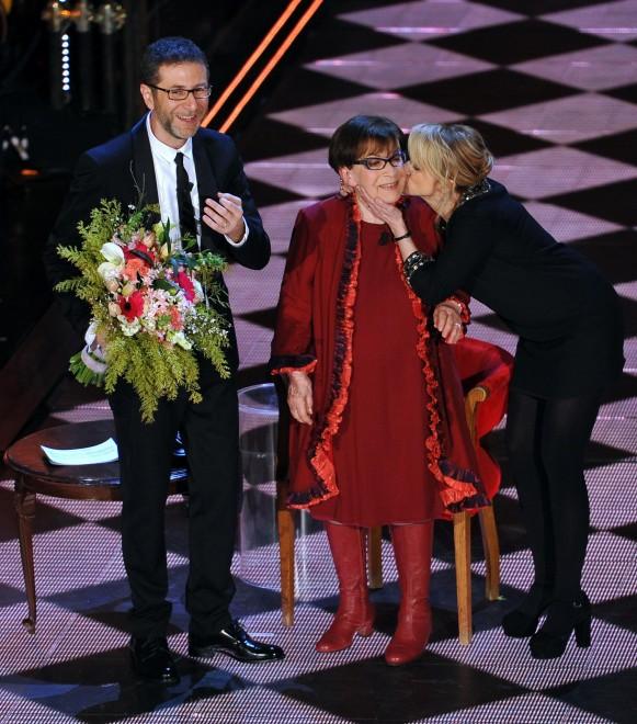 Franca Valeri standing ovation all'Ariston
