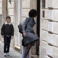 Roma, Renzi con la moglie e i figli tricolore