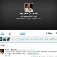 Andrea Orlando giura anche su Twitter