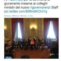 Il primo giorno del Governo Renzi su Twitter