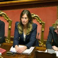 Fiducia in Senato: i ministri del governo Renzi in aula