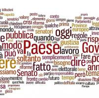 Il discorso di Renzi: la nuvola delle parole