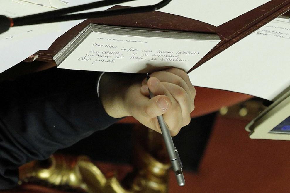Il biglietto di Renzi: ''Ho fatto una buona telefonata a Obama''