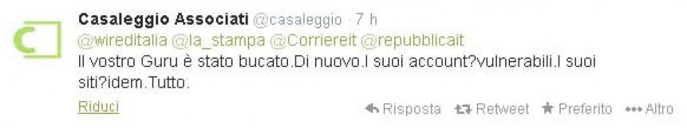 M5s, hackerato account Twitter di Casaleggio