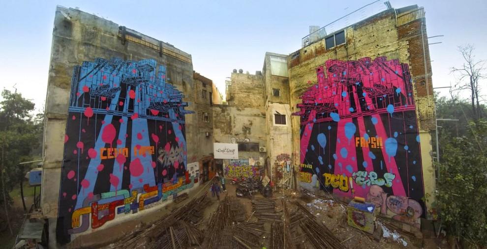 Nuova Delhi, murales senza frontiere: è lo street art festival