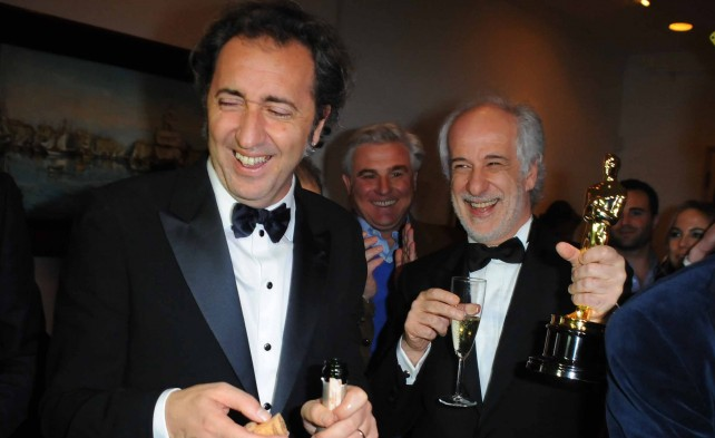 """Oscar,   Sorrentino dall'Oscar   al Quirinale -  vd       Video: """"Un film innamorato del mio paese"""