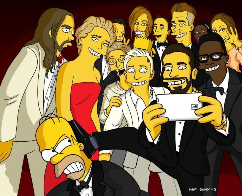 I Simpson & Co, selfie-parodie da Oscar