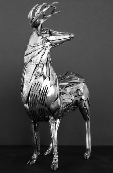 animali di coltelli e forchette le sculture di gary hovey