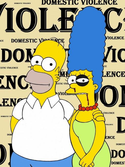 Homer picchia Marge, la campagna cartoon contro la violenza sulle donne