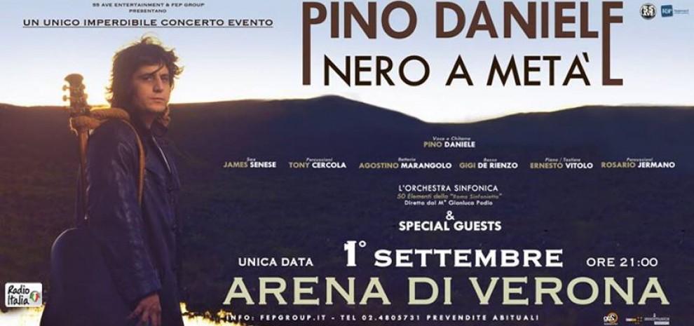 Pino Daniele: a settembre all'Arena, martedì a Webnotte