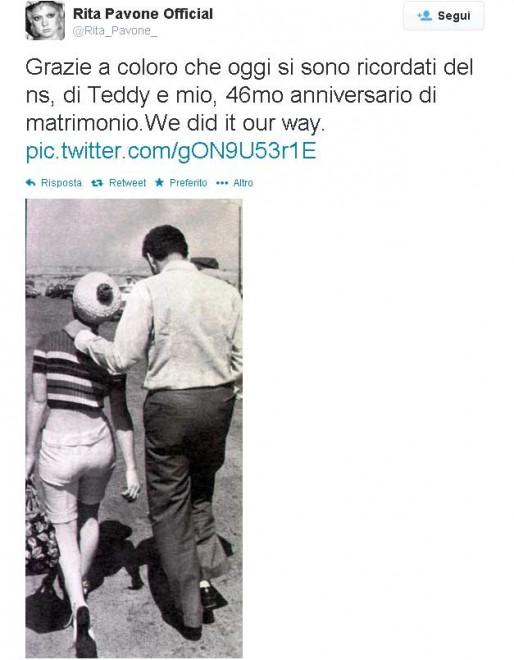Rita Pavone Su Twitter Grazie Per Gli Auguri Per I 46 Anni Di