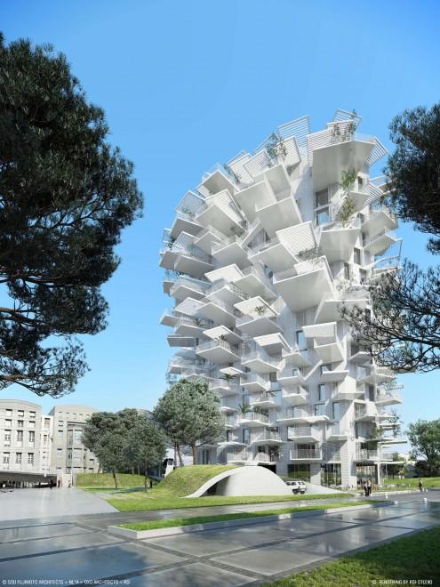 Montpellier abitare in un albero il grattacielo delle for Montpellier citta