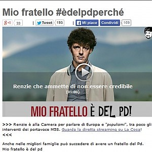 """Grillo: """"Aveva ragione Berlusconi, chi vota Pd è un c..."""""""