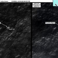 Aereo scomparso: le immagini satellitari dei possibili resti