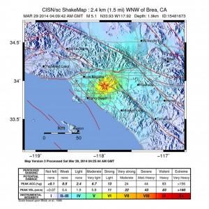 Terremoto del 5,1 vicino Los Angeles. Solo lievi danni