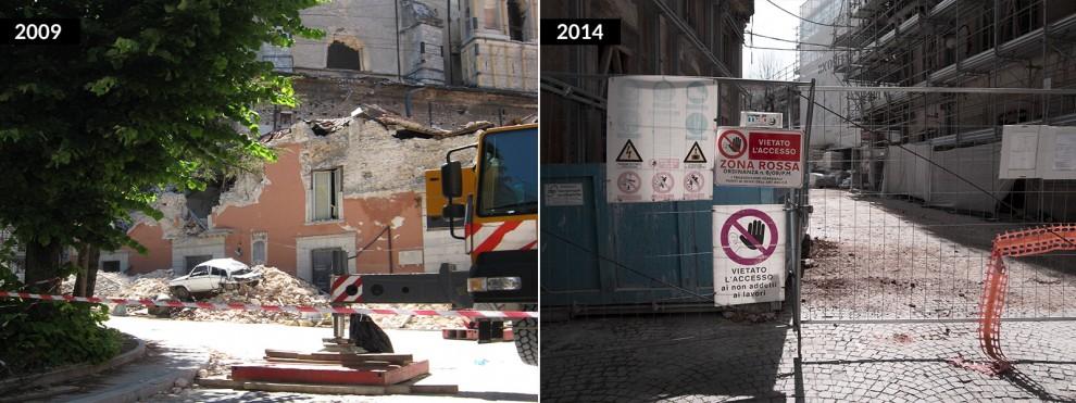 L'Aquila cinque anni dopo, com'era e com'è