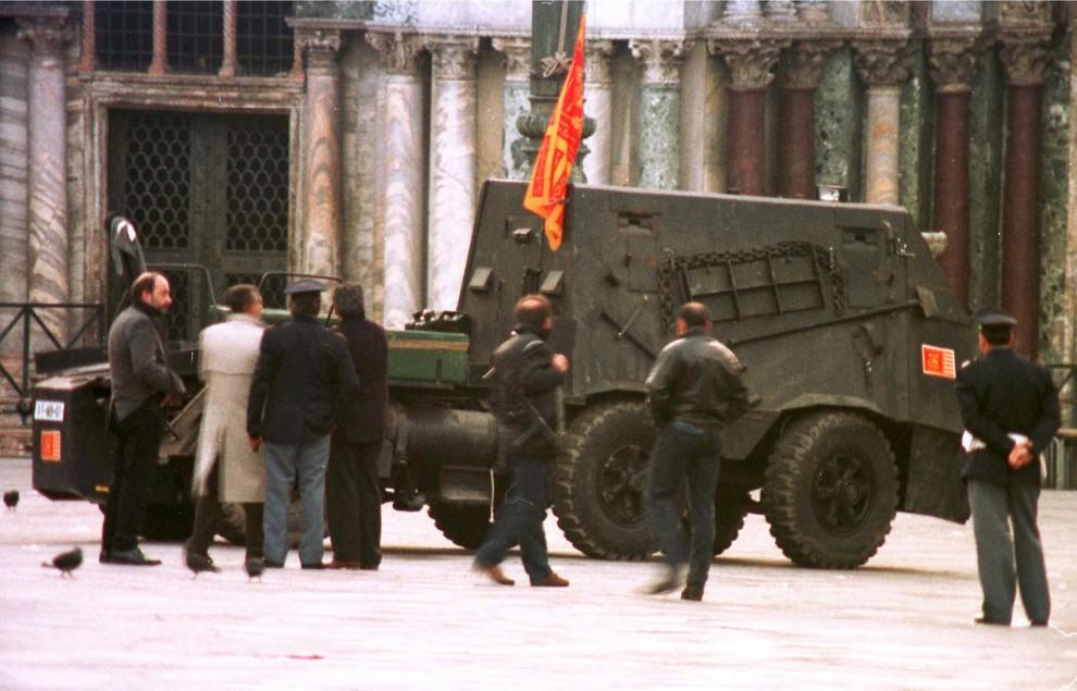 """Blitz contro i secessionisti: il """"tanko"""" del '97 per l'assalto al campanile di San Marco"""