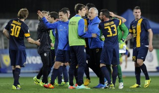 Chievo-Hellas Verona 0-1, Toni da record decide il derby