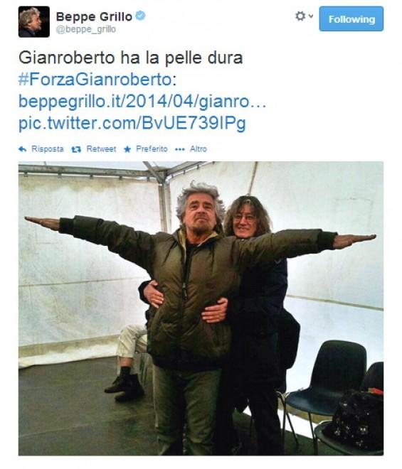 Casaleggio in ospedale, il tweet di Grillo: ''Il mio amico ha la pelle dura''
