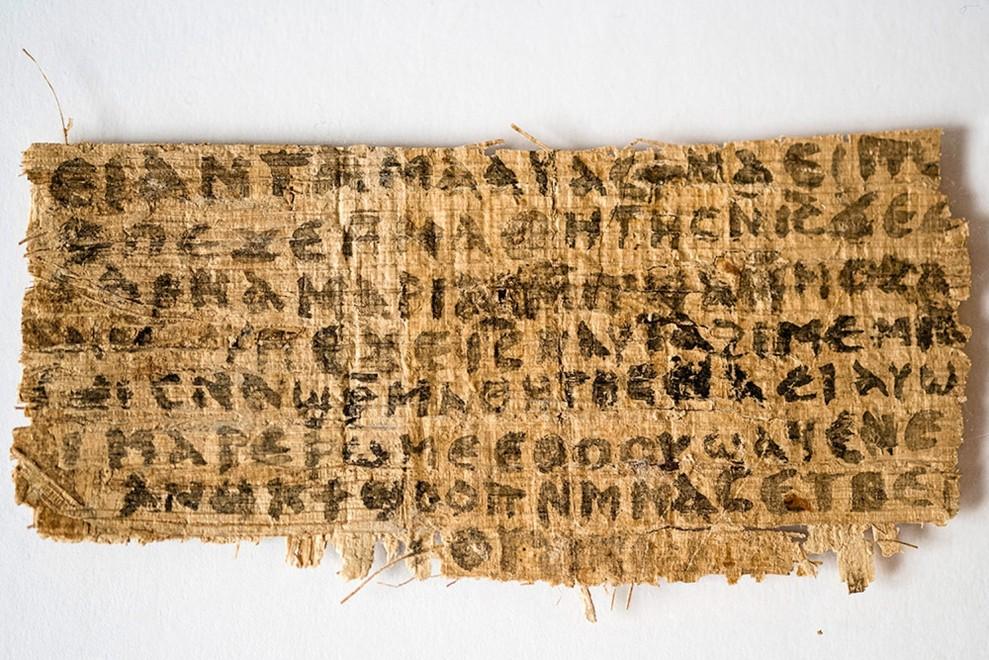 Il papiro della 'moglie di Gesù': test provano che non è falso moderno