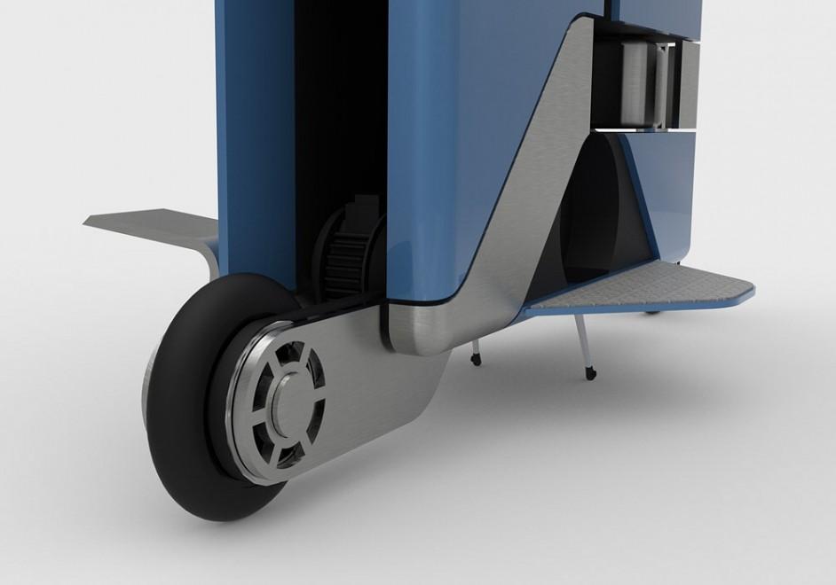 La valigetta diventa scooter, trasporto ecologico in città
