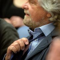 La conferenza stampa di Grillo: le facce