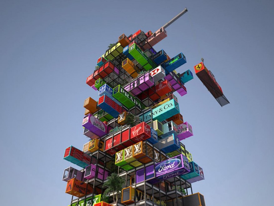 Architettura del futuro, il palazzo è 'Tetris'