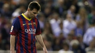 "Barça contestato   video    ""Messi, mercenario"""