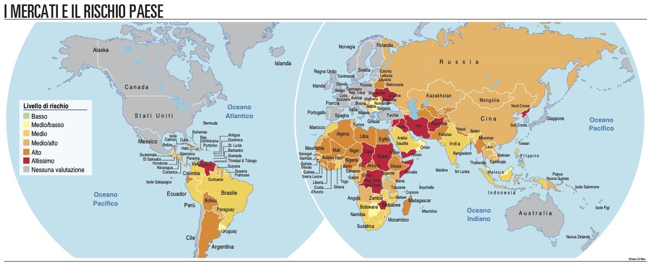 Rischio politico, dalla Aon 100 mappe a portata di click