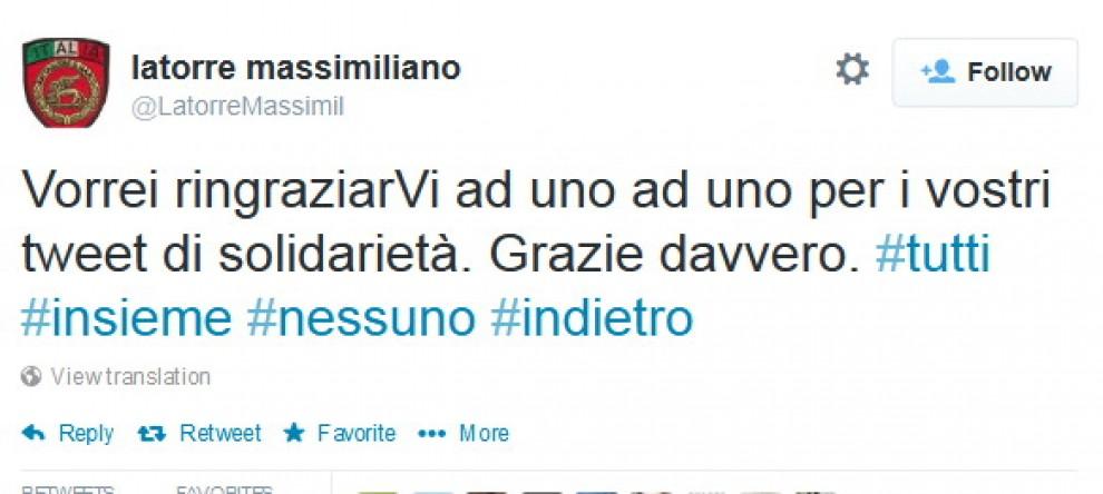 """Il """"tweet storm"""" per il rientro in Italia dei marò. E Latorre ringrazia"""