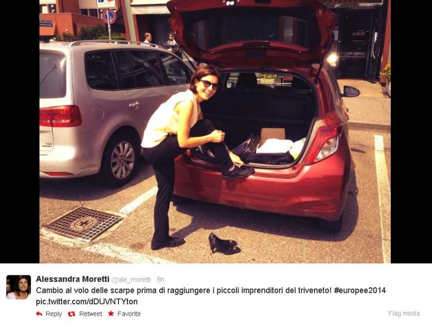 Europee, dalle scarpe alla trattoria: la campagna social di Alessandra Moretti