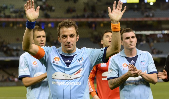 Del Piero va in panchina a Sydney