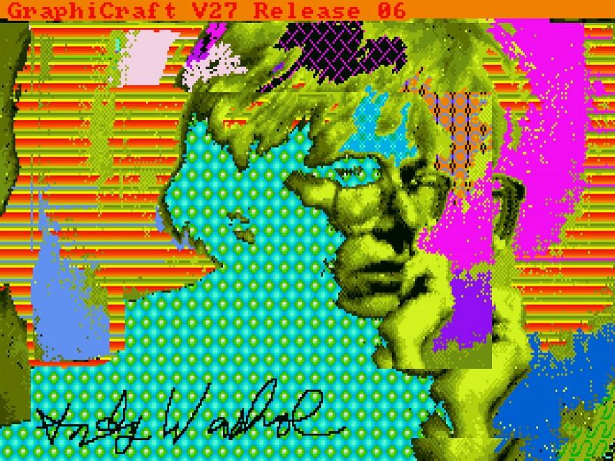 Opere digitali di Warhol scoperte in un computer Amiga