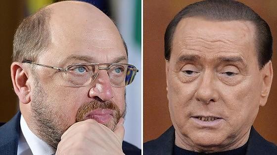 """Nuova gaffe di Berlusconi: """"Per tedeschi lager mai esistiti"""". Schulz: """"Lui uguale odio, invidia e litigi"""""""