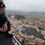 Canonizzazione, le foto aeree dall'elicottero della Polizia