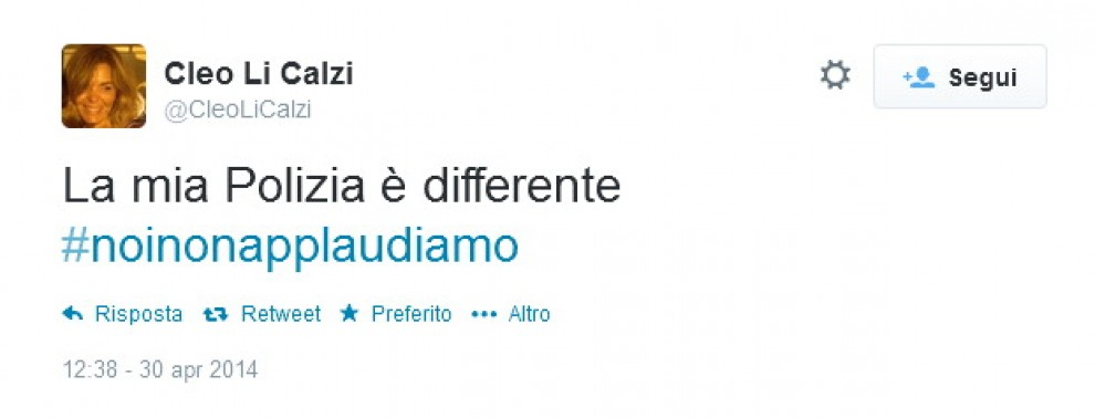 Aldrovandi, applausi agli agenti condannati: le reazioni su Twitter