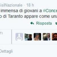 Primo maggio, Cisl attacca Taranto: su Twitter è polemica