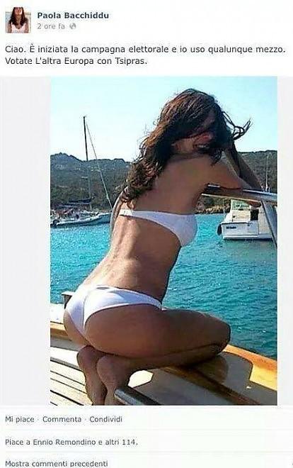 Tsipras, in bikini per le Europee: l'ironia della portavoce