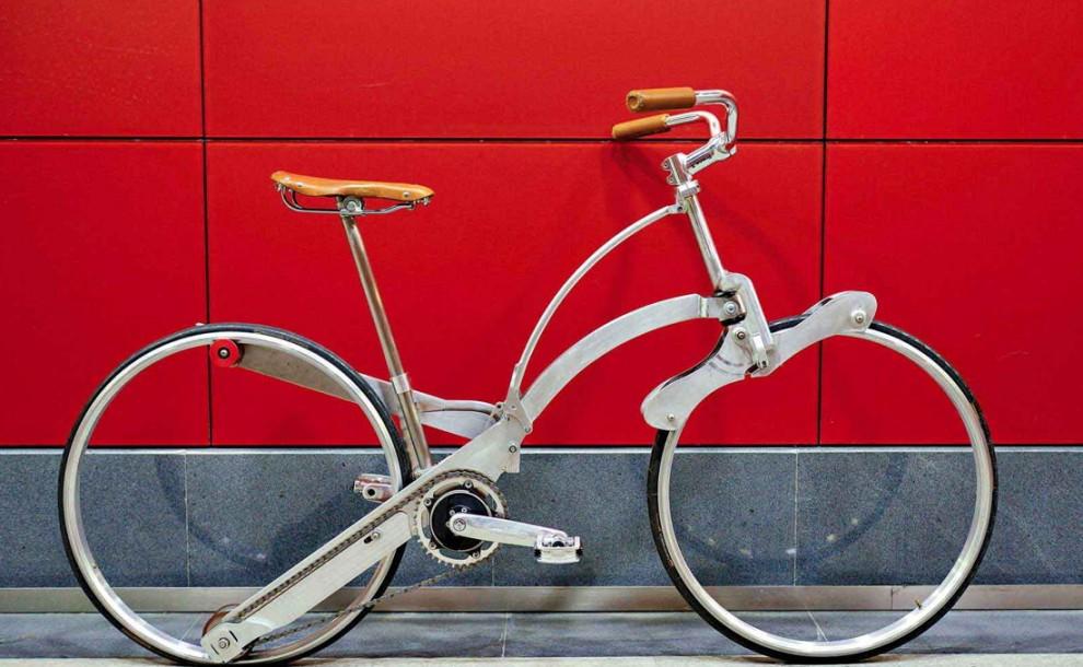 è la bici senza raggi