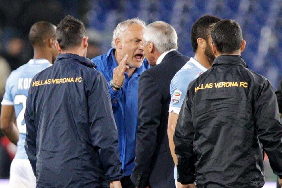 Lazio-Verona, a fine gara lite tra Reja e Mandorlini