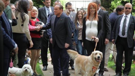 """Berlusconi dagli animalisti. """"Si potrebbe fondare partito 'vittime della giustizia'"""""""