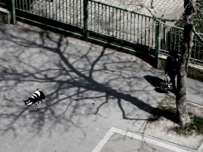 Street Art, segnali e strade come tavolozza