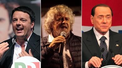 Videoblob  La campagna delle urla    Foto  La sfida tra i leader nelle piazze