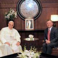"""Papa Francesco in Giordania. """"Libertà religiosa e soluzione pacifica per Siria e Medio Oriente"""""""