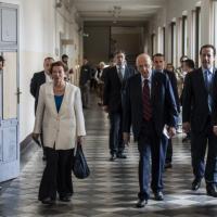 Europee: Napolitano ha votato al seggio di rione Monti