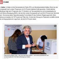 Il trionfo di Renzi e il flop di Grillo: la notizia sui siti stranieri